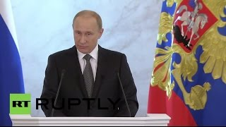Download LIVE: Putin delivers state-of-the-nation address - English audio Video