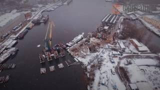 Download Строительство моста через остров Серный Video