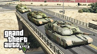 Download GTA 5 - Army Patrol Episode #33 - TANK CONVOY! (New DLC Gear, Convoys, Helicopter) Video