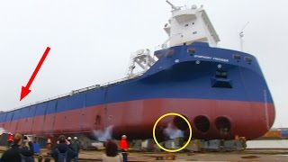 Download Ship Launch Gone Wrong: SYMPHONY PROVIDER stuck on slipway Video