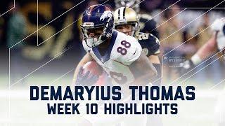 Download Demaryius Thomas' 8 Grabs & 1 TD   Broncos vs. Saints   NFL Week 10 Player Highlights Video