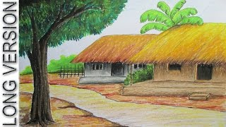 Download How to Draw Village Hut with Pastel Color [LONG VERSION] Video