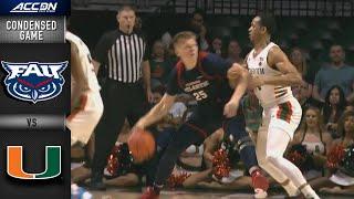 Download Florida Atlantic vs. Miami Condensed Game | 2019-20 ACC Men's Basketball Video