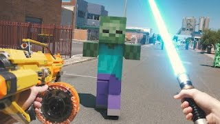 Download Minecraft In Real Life with Mods | Nerf, Mario, LEGO & More Video