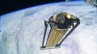 Download Roll-Out Solar Array (ROSA) Jettisoned From Space Station Video