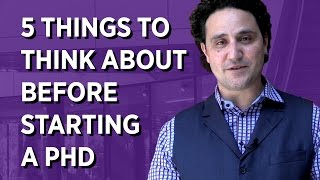 Download 5 Things To Think About Before Starting a PhD Video