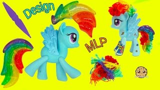 Download Design A My Little Pony Rainbow Dash Hair Style + MLP POP Spitfire - Toy Video Video