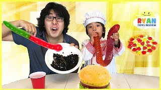 Download Gummy Food vs Real Food & Pizza Challenge Video