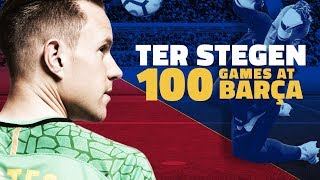 Download Ter Stegen celebrates 100 games with Barça Video