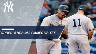 Download Gleyber Torres launches four homers in 3 games vs TEX Video
