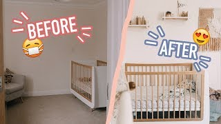 Download HUGE NURSERY TRANSFORMATION!!!! SO CUTE! (BEFORE AND AFTER) Video