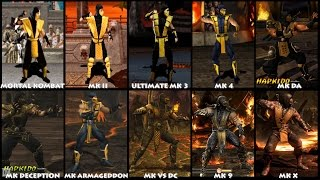 Download Mortal Kombat SCORPION Graphic Evolution 1992-2015 | ARCADE PSX PS2 XBOX PC | PC ULTRA Video