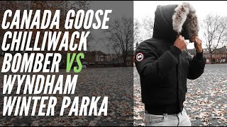 Download OUTDOOR WINTER TEST | CANADA GOOSE CHILLIWACK VS CANADA GOOSE WYNDHAM PARKA JACKET Video