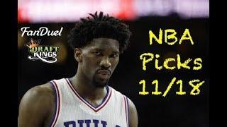 Download NBA (Fanduel + DraftKings) Picks 11/18 Video