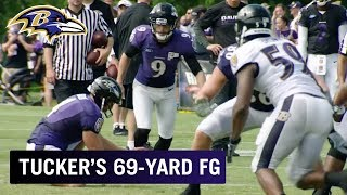 Download Justin Tucker Bombs 69-Yard Field Goal | Top Play | Baltimore Ravens Video