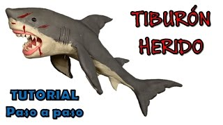 Download Como hacer un tiburon herido de plastilina / How to make a wounded shark with clay Video