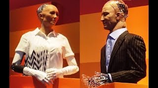 Download Two AI robots Sophia & Han debate the future of humanity - Rise 2017 Video