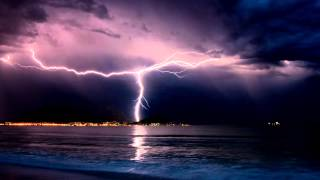 Download REMASTERED - 10 hours of Thunderstorm and Rain Sounds over the Ocean Video