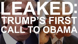 Download LEAKED: Trump's first call to Obama Video
