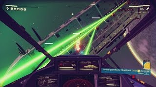 Download Taking down a 5 star Sentinel Warship - Space fighting Gameplay - No Man's Sky Video