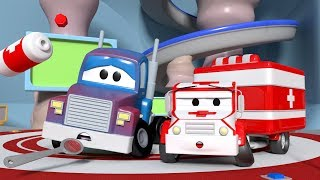 Download Carl Transform is hot and dizzy ! - Amber the Ambulance in Car City l Cartoons Video