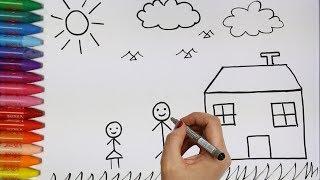Download Cara menggambar rumah dan keluarga - Cara Menggambar dan Mewarnai TV Anak Video