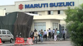 Download Heavy security at the Maruti Suzuki Manesar plant Video