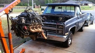 Download 84 Chevy C10 LSx 5.3 swap with Z06 Cam - Parts Needed Shown - Truck LS1 Video