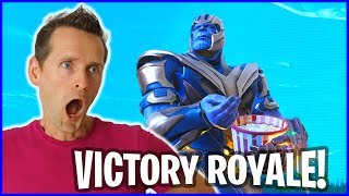 Download Victory Royale as THANOS in the New Infinity Gauntlet Limited Time Mode Video