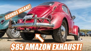Download I Put An $85 AMAZON EXHAUST On My BUG! *ITS LOUD* Video