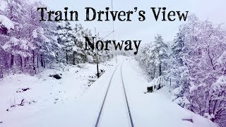 Download Train Driver's View: Winter is finally here! (Bergen - Ål) Video