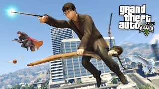 Download GTA 5 Mods - HARRY POTTER MOD w/ WAND & BROOM!! GTA 5 Harry Potter Mod! (GTA 5 Mods Gameplay) Video