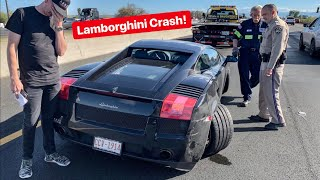 Download POLICE INSULT ME MOMENTS AFTER MY DREAM CAR IS WRECKED! *LAMBORGHINI CRASH* Video