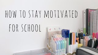 Download how to stay motivated for school Video