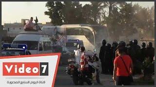 Download فريق الزمالك يصل ستاد برج العرب وسط حراسات مشددة Video