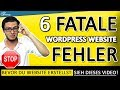 Download WordPress Website Erstellen [2019]: Vermeide Die 6 Fatalen Fehler Die Alles Zerstören (Deutsch | HD) Video