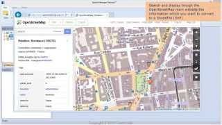 Download Convert OpenStreetMap data to Shapefiles (SHP) - Spatial Manager Blog Video