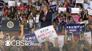 Download Trump rally highlights ″most visible dividing line″ in American politics Video