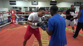 Download TMT fighter Kevin Newman II working with his trainer Jeff Mayweather Video
