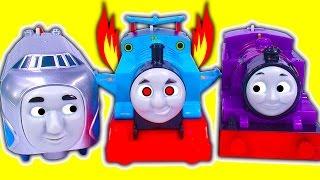 Download Winged Jet Thomas Hugo & Skiff Ryan & Jerome Trackmaster Train Race Crashes Fun Video