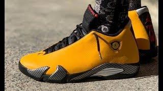 Download Air Jordan 14 Reverse Ferrari Yellow gs Retro Sneaker Detailed Honest Review Video
