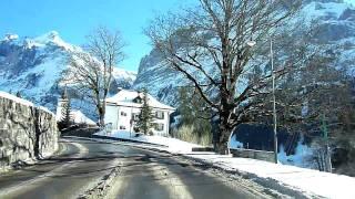 Download Switzerland 107 (Camera on board): Grindelwald (BE) in winter Video