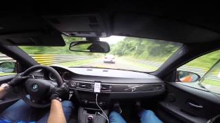 Download BMW M3 GTS VS BMW M5 F10 Ring Taxi Nürburgring Nordschleife with external mic + Harrys Laptimer Video