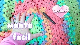 Download COMO HACER MANTA RAPIDA Y FACIL A CROCHET SIN COSER ″crochet blanket for beginners″💗💗💗 Video