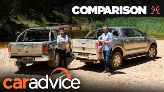 Download 2017 Ford Ranger XLT vs Volkswagen Amarok V6   CarAdvice Video