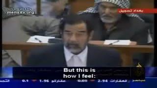 Download Saddam Husseins final speech Video
