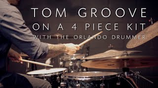Download Tom Groove on a 4 Piece Kit - Drum Lesson w/ The Orlando Drummer Video