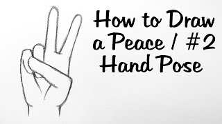 Download How to Draw a Peace/ #2 Hand Pose Video