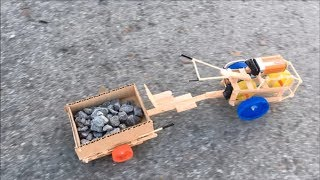 Download DIY Two-Wheeled Tractor with Trailer Video
