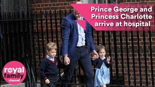Download Prince William returns to hospital with Prince George and Princess Charlotte Video